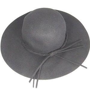 NWT 100% Wool Black Floppy Hat